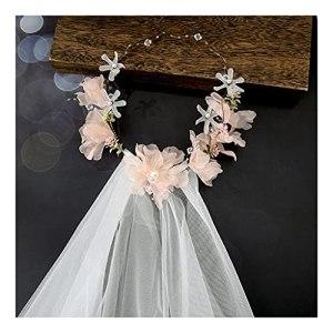 QFF Q Couronne de mariée pour demoiselle d'honneur, robe de mariée, robe de mariée, voile de mariage, accessoires pour cheveux F (couleur : D)