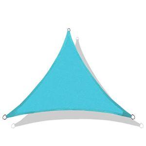 QI-CHE-YI Sun Shade, imperméable à 95% de Voile Anti-ultraviolette, auvent de Jardin extérieur, auvent de la fête de Plage, 3,6 * 3,6 * 3,6 m,Lake Blue