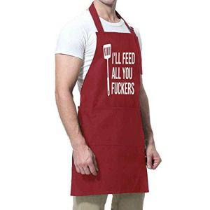 ShopINess Tablier Amusant I'll Feed You (Rouge)