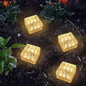 Solaire extérieure de glaçon de glace, lumière du sentier à la maison, éclairage de jardin de paysage, aménagement du jardin, verre décoratif extérieur Light Cube de