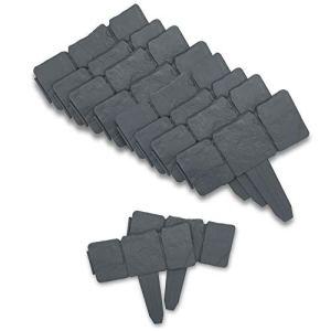 Soldela ® Lot de 10 – Module Bordure de Jardin Effet Pierre 2.5 mètre linéaire – 25CM x 10CM – Plastique Flexible résistant – Gris