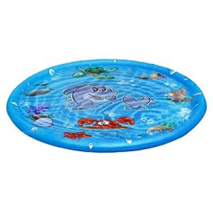 Sprinkler Tapis gonflable Vaporiser l'eau Tapis ronde d'été Kids Outdoor Splash Game Pad