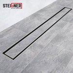 STEIGNER Drain linéaire 80 cm SDR90 Berlin Caniveau de Drainage Acier Inoxydable Siphon en Métal