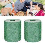 StyleBest 2 pièces Tapis de semences d'herbe biodégradables Tapis de semences d'herbe Tapis de démarrage de semences Tapis de Plantation pour pelouse de Jardin, 10 M * 0,2 M