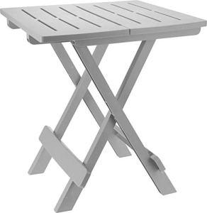 'Table pliante «ADIGE» – Table pour petit jardin ou de camping – Parfaite comme table d'appoint gris clair