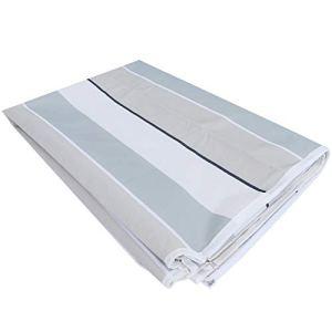 TAKE FANS Nappe imperméable durable avec fermeture éclair et trou pour parapluie 600D Oxford Housse de table d'extérieur 150 x 213 cm
