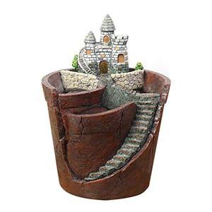 Terzsl Pots de fleurs succulentes en résine créative Ciel Jardin Bonsaï Pot de fleurs pour la maison Décoration de chambre