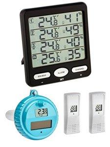 TFA Dostmann Klima Monitor Plus TFA 30.3054.plus Station thermomètre-hygromètre sans fil avec émetteur flottant schwarz 30.3054.01