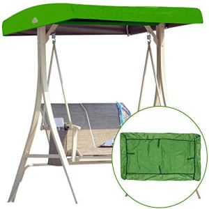Universal Replacement Canopy for Garden Swing Seats 3 Seater, Cover Patio Hammock Cover Top Garden Outdoor – UV Protection (Green)