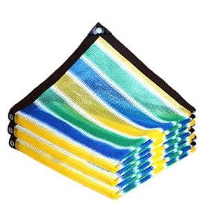Upupto Coloré Épaissir Sunshade Filet, Balcon Sécurité Clôture Filet Terrable Terrasse Canopée Voile Beau Soleil Sun Shade Filets,3 * 5m