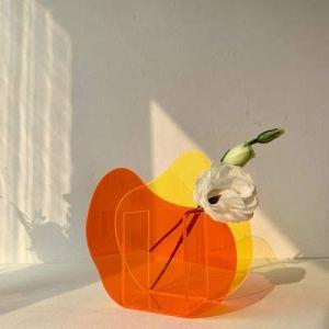 Vases acryliques transparentes mignonnes Conteneur floral de fleurs décoratives design de mariage de mariage de mariage de la fête de mariage domestique décoration de bureau ( Color : E Model )