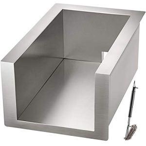 VEVOR Base Protecteur Barbecue Encastrable en Acier INOX 37×58 cm Support Isolant Chaleur de Combustible Grill à Gaz à 2 Brûleurs, Pièce de Rechange pour Protection de Cuisine Extérieure, Ilot de BBQ