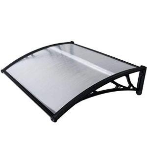 WerkaPro 10844 – Marquise en Polycarbonate – 80x100cm – Noir – Traitée anti UV