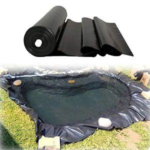 XWZJY Membrane imperméable de revêtement de Peau d'étang Noir pour Les fontaines de ruisseaux d'étangs de Koi de Jardin d'eau, Film d'aménagement paysager résistant à la déchirure (épaisseur: 0,2 mm)