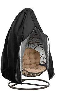 YCHK Housse de Chaise Suspendue Oxford de Protection imperméable à l'eau et à la poussière pour Patio, Chaise à Bascule, Chaise Flottante (Black)