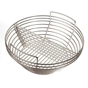 YNNI Kamado Panier à cendres pour grilles de 53,3 cm à 58,4 cm de diamètre extérieur Séparateur central amovible TQKAB2123