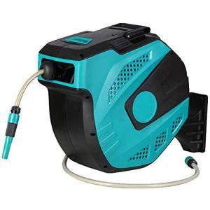 ZQQFR Villa Mini dévidoir automatique pour tuyau d'arrosage 16,5 m Bleu