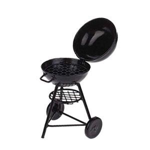 01:12 Maison de poupée miniature de cuisine pique-nique Barbecue Barbecue Cuisine Four Métal – Torréfaction Noir