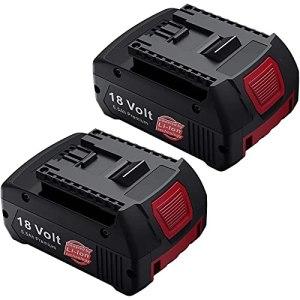 2X BAT609 18V 5.5Ah batterie de remplacement fonctionne pour Bosch BAT609 BAT610G BAT618G BAT619 BAT621 BAT620 outils électriques sans fil avec indicateur de charge LED