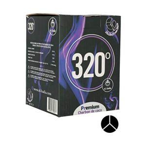320° EL Badia XL Disc 25x25x27mm – 1kg de Charbon Naturel Triangulaire Compatible avec Tous Les systèmes de Chauffe – Lot de 60 Grands Morceaux de Charbon de Longue durée