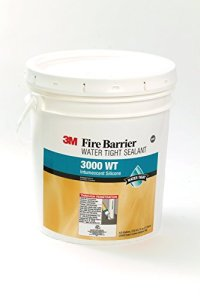 3M Fire Barrier Water Tight Sealant 3000 WT, Gray, 4.5 Gallon Drum (Pail)