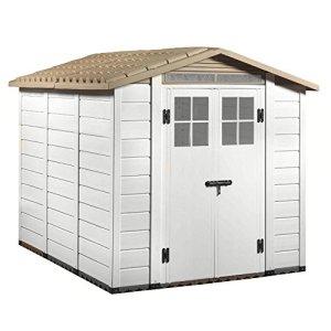 Abri de jardin PVC beige sol box Porte outils de jardin extérieur TUSCANY EVO-240