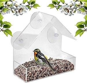 AITAOZI Window Bird House Fearler par la Nature n'importe où 3 ventouses Extra Fortes.Grands nourrisseurs d'oiseaux pour l'extérieur.Forme d'oiseaux.