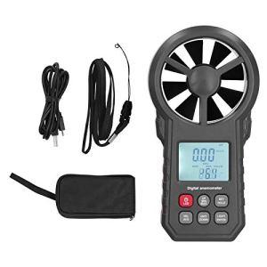 Anémomètre WT87B, Anémomètre de Vitesse du Vent, Anémomètre Numérique Bluetooth, Testeur de Vitesse du Vent Portable 9 V avec Rétroéclairage LCD