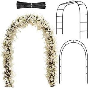 Arc de Jardin en Métal Arc de Mariage Arcade de Tonnelle de Jardin avec Fils de Fer pour Mariage Fête Jardin Patio Plante Grimpante en Treillis Diverses Décoration de Fête Nuptiale