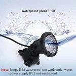 ASPZQ Ajustable Spot sous-Marin À 36 LED IP68 RVB Étanche pour l'eau de Bassin Fontaines Piscine Lampe Projecteur Réservoir Poissons D'aquarium de Jardin Dcoration de Vacances (Size : 2 Light Set)