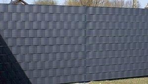 Bandes de Protection de Vue Premium PVC Dur pour Tapis de Tringle Protection de la Vie privée Protection Contre Le Vent Dimensions: 2525 x 190 x 1,35 mm 1 pièce Anthracite RAL 7016