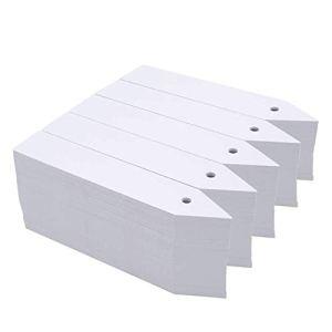 Basage 1000 PièCes SéRies 4 Pouces en Plastique Blanc éTiquettes de Plantes avec des éTiquettes de Marqueurs de Semences de Jardin de Trou