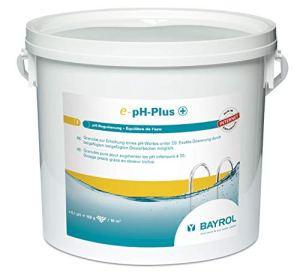 BAYROL E-pH-Plus Granulés de 5 kg – Élévateur de pH – Augmentation Rapide et Efficace du pH de la Piscine – Manipulation Facile et sûre grâce au Verre doseur – Haute pureté Chimique