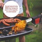 Beisha Outil de Barbecue, Ventilateur électrique portatif de Ventilateur de Barbecue de Poche pour Outil de Cuisson de Barbecue de Pique-Nique de Camping en Plein air