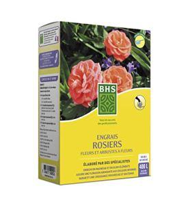 BHS ESF800 Engrais Rosiers Arbustes A Fleurs | 800 g | Soit 400 L | Forte Teneur en Potasse Garantissant Une Floraison Soutenue, Fabriqué en France
