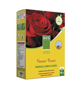 BHS EVRO4 Engrais Vitamin' Rosiers | 4 kg | Soit 100 Pieds | Floraison Soutenue Et Parfumée, Fabriqué en France