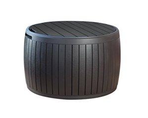 Boîte à coussins et table d'appoint Keter Circa rotin, brun, 140L