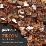 Bravex – Verre pour foyer au propane – Pierres réfléchissantes en verre trempé pour foyer à gaz – Cuivre ambré – 4,5 kg