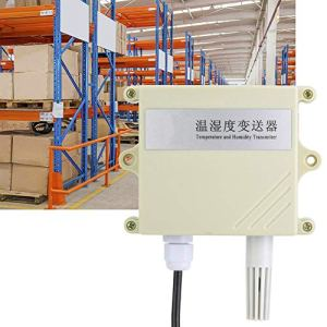 Capteur de Température, 4-20mA Collecteur de Température et D'humidité Mural étanche IP65 Haute Précision Transmetteur / Capteur Hygromètre Thermomètre Test D'humidité de l'environnement pour Serres