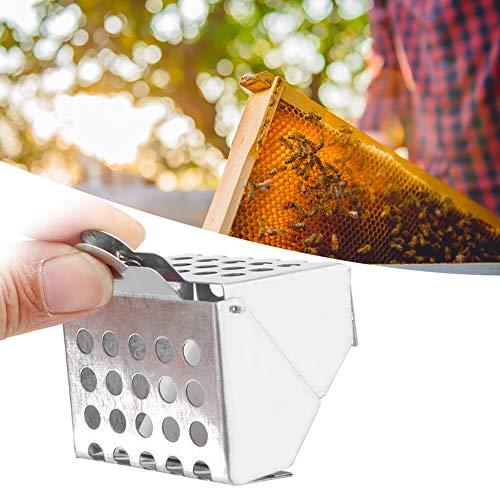 chengong de Fin d'année Clip Queen Cage Cage de Reine d'abeille en Fer galvanisé, Attrape-Abeille Reine Pratique et Facile à Utiliser, Outil d'apiculture pour Attraper Les Abei