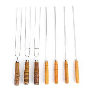 CHENQIAN Lot de 7 fourchettes à barbecue en acier inoxydable 642 g