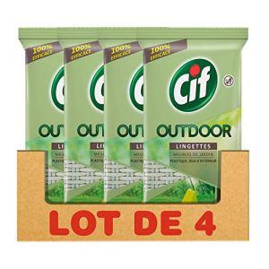 CIF Outdoor Lingettes Nettoyantes Meubles de Jardin (Lot de 4×15 Lingettes)