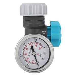 Cikonielf G3/4in Régulateur de Pression d'eau réglable avec manomètre Contrôleur d'irrigation de Jardin à Effet de Serre Réducteur de Pression d'eau réglable sans Plomb en Laiton avec manomètre