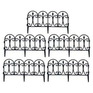 Clôture de jardin décorative amovible en plastique – Clôture de jardin extérieure – Clôture de mariage – Clôture durable