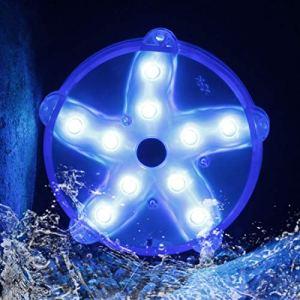 Cootway Lumière Flottante Piscine LED Eclairage avec Aimant,RVB Couleur Changement Astérie Lampes LED 3,3″,IP68 Étanche Lumière D'ambiance pour Baignoire Spa Vase Aquarium Étang Jardin Fête Décoration