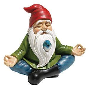 Design Toscano Gnome de Jardin Zen Statue, 20.25 cm, polyrésine, palette complète de couleur