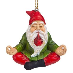 Design Toscano QM17010 Boule de Noël – Jardin Gnomes Figurine – Zen Garden Gnomes – Méditer Statues Gnome