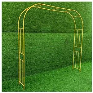 DunShan Arche Jardin Support pour Plante Jardin Trois Dimensions Métal Bois Multi-Barre pour Pieds Blanc Noir Or