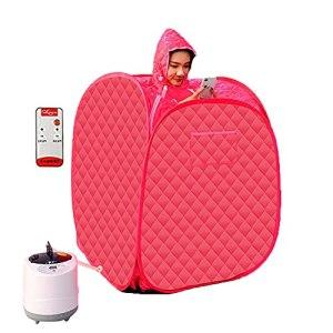 EEUK Sauna Pliable Portable avec Télécommande, Sauna à Vapeur Spa at Home Perspiration Perdre du Poids, 1000W 200V, 1-9 Contrôleur de Température