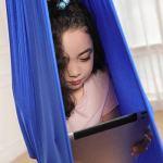 Fangteke Hamac, Balançoire de Thérapie Intérieure pour Enfants,Balançoires Chaise Suspendue Balançoire Sensorielle Vol Aérien Hamac de Yoga(150 * 280cm)